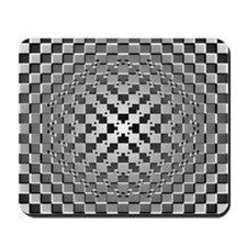 3D Checkered Optical Illusions Mousepad
