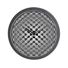 3D Checkered Optical Illusions Wall Clock