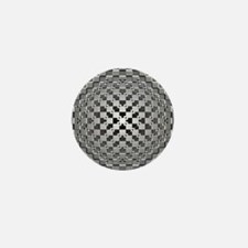 3D Checkered Optical Illusions Mini Button
