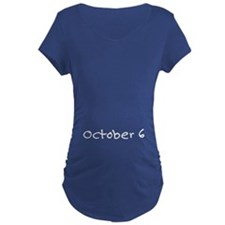 """October 6"" printed on a T-Shirt"