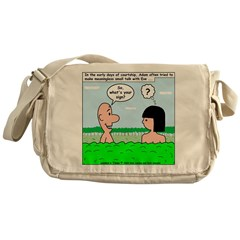 Adam and Eve Pickup Line Messenger Bag