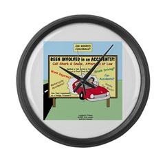 Accident Law Firm Billboard Large Wall Clock