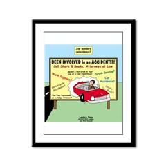 Accident Law Firm Billboard Framed Panel Print