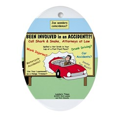 Accident Law Firm Billboard Ornament (Oval)