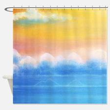 Lanikai Dream Painting Tropical Shower Curtain