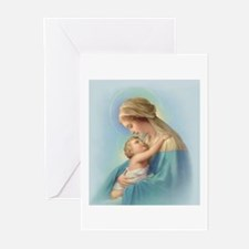 Mary and Jesus Greeting Cards