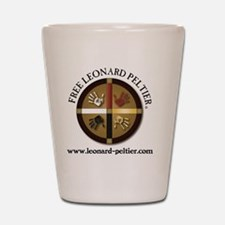 Free Leonard Peltier Shot Glass