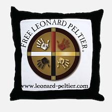Free Leonard Peltier Throw Pillow