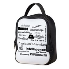 Physician Assistant Word Cloud Neoprene Lunch Bag