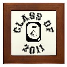 CLASS OF 2011 LIKE CIRCLE Framed Tile
