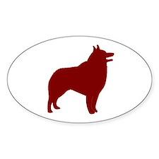 Just Schipperke (Red) Oval Decal