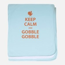 Keep Calm and Gobble Gobble baby blanket