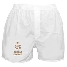 Keep Calm and Gobble Gobble Boxer Shorts