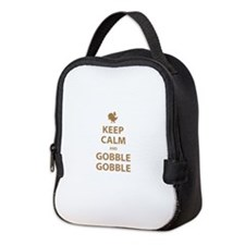Keep Calm and Gobble Gobble Neoprene Lunch Bag