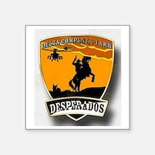 """Desperados Patch Square Sticker 3"""" x 3"""""""