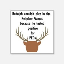 """RudolphPEDs Square Sticker 3"""" x 3"""""""