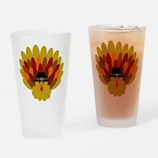 Happy Thanksgiving Turkey Drinking Glass