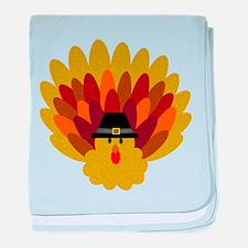 Happy Thanksgiving Turkey baby blanket