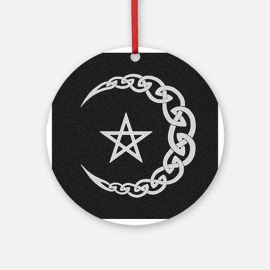 Celtic Moon Ornament (Round)