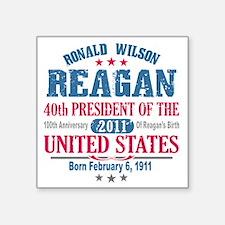 """Ronald Reagan 4A Square Sticker 3"""" x 3"""""""