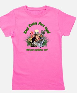 Keep Exotic Pets Legal Green Text Girl's Tee