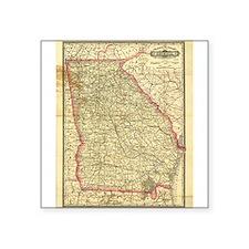 1883 Georgia Map Rectangle Sticker