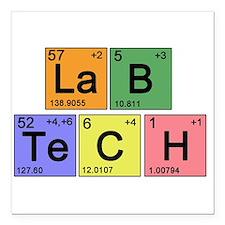 """LaB TeCH color2 copy.png Square Car Magnet 3"""" x 3"""""""