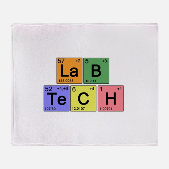 LaB TeCH color2 copy.png Throw Blanket