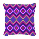 Purple Green Chevron Diamond Pattern Woven Throw P