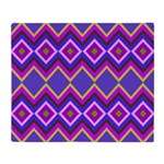 Purple Green Chevron Diamond Pattern Throw Blanket
