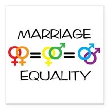 "Marriage Equality Square Car Magnet 3"" x 3"""