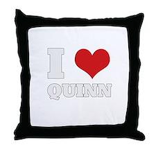 i love quinn  Throw Pillow
