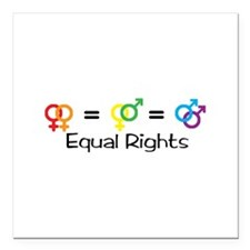 """Equal Rights Square Car Magnet 3"""" x 3"""""""