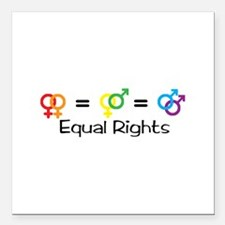 "Equal Rights Square Car Magnet 3"" x 3"""