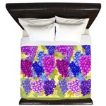 Grapes On Vineyard Leaves King Duvet