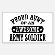 Proud Army Aunt Sticker (Rectangle)