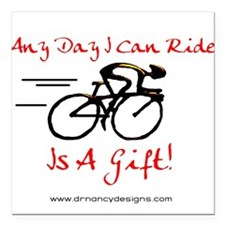 "Any Day Square Car Magnet 3"" x 3"""