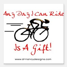 """Any Day Square Car Magnet 3"""" x 3"""""""
