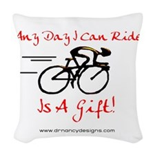 Any Day Woven Throw Pillow