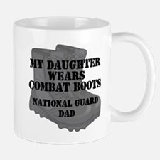 National Guard Dad Daughter Combat Boots Mugs