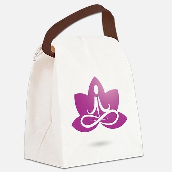 purple 5 Canvas Lunch Bag