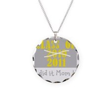 ClassOf2010-2011 Number2 Bla Necklace Circle Charm