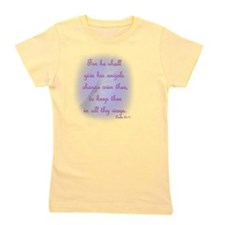 For He Shall Give his Angels Charge ove Girl's Tee