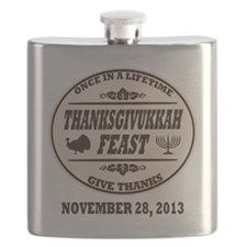 Once in a Lifetime Thanksgivukkah Flask