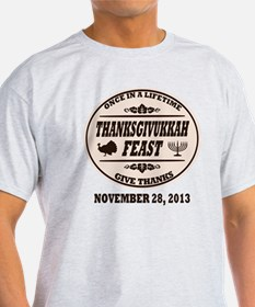 Once in a Lifetime Thanksgivukkah T-Shirt