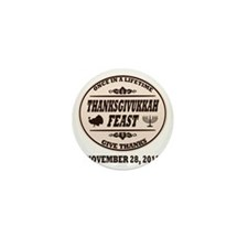 Once in a Lifetime Thanksgivukkah Mini Button