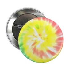 """Coral and Yellow Tie Dye 2.25"""" Button (100 pack)"""