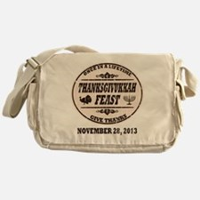 Vintage Once in a Lifetime Thanksgiv Messenger Bag
