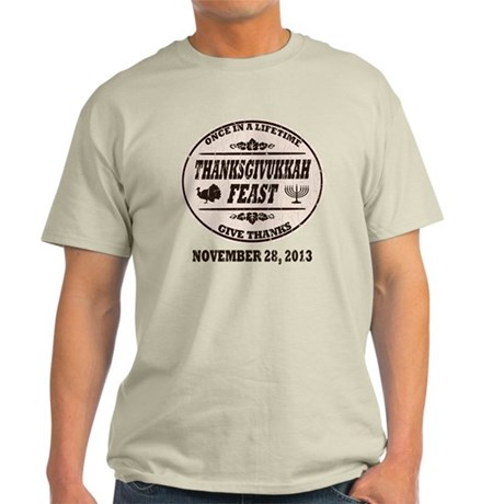 Vintage Once in a Lifetime Thanksgiv Light T-Shirt