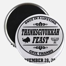 Celebrate Once in a Lifetime Thanksgivukkah Magnet